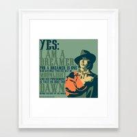 oscar wilde Framed Art Prints featuring Oscar Wilde by Zerflin