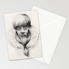 homeless hipster Stationery Cards