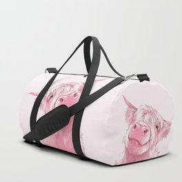Highland Cow Pink Duffle Bag