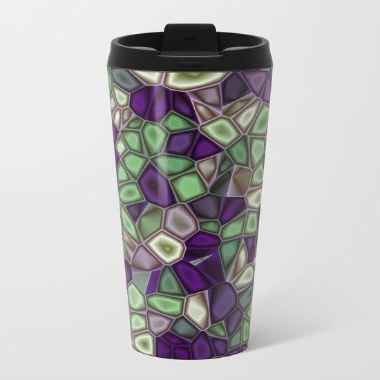 Fractal Gems 02 - Purples and Greens Metal Travel Mug