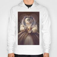 Hoodies featuring Cat Queen by Christina Hess