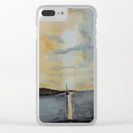 Last light on the bay Clear iPhone Case