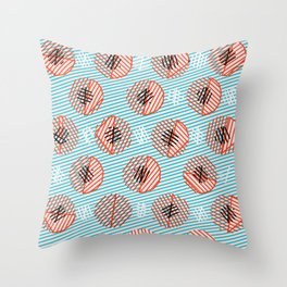 Circle Bubble Line print Throw Pillow