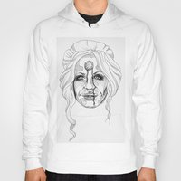 versace Hoodies featuring Donatella Versace by Miguel Angel Flores
