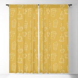 Coffee pattern Blackout Curtain