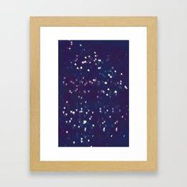 Little hearts  Framed Art Print