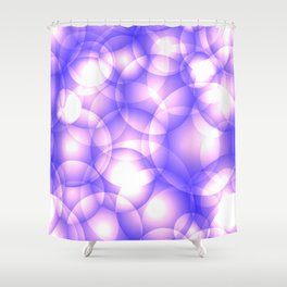 Gentle intersecting purple translucent circles in pastel shades with glow. Shower Curtain