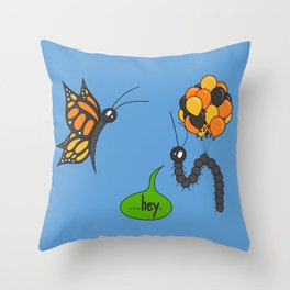 A Bug Ahead of Its Time Throw Pillow