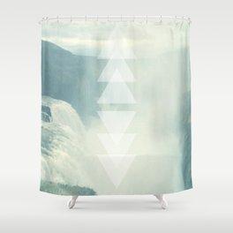 Geometric Waterfall (Western Sea) Shower Curtain