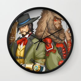 Outfit Swap Wall Clock