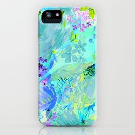 abstract floral iPhone Case