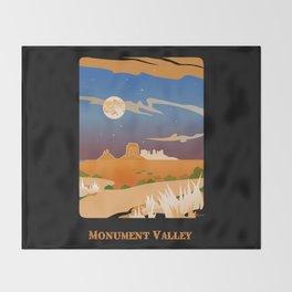 Monument Moon2 Throw Blanket