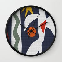 matisse Wall Clocks featuring Inspired to Matisse by Chicca Besso