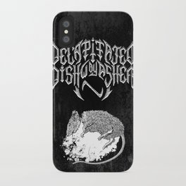 Decapitated by dishwasher II (black) iPhone Case