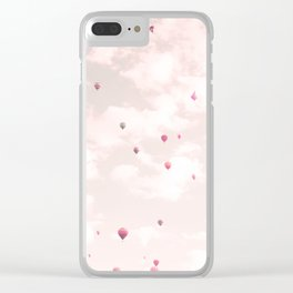 Hot Air Balloons, Violet Clear iPhone Case