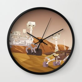 Curiosity and Opportunity Wall Clock
