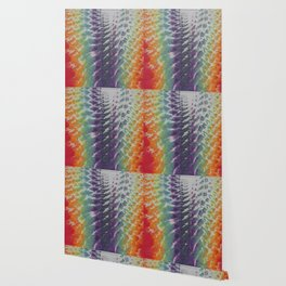 Tie Dye Rainbow Ripples Wallpaper