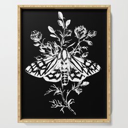 butterfly black Serving Tray