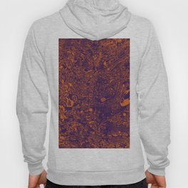Violet orange abstraction Hoody