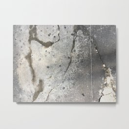 Cracked Stain Dot Streets Metal Print