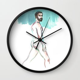 SCOTT, Nude Male by Frank-Joseph Wall Clock