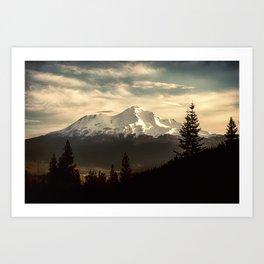 Mount Shasta Waking Up Art Print
