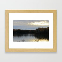 Downeast Autumn Reflections of Scattered Illuminations Framed Art Print