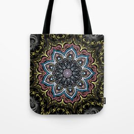 Burning Butterfly Mandala Tote Bag