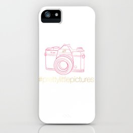 Prettylittlepictures Gold & Pink iPhone Case