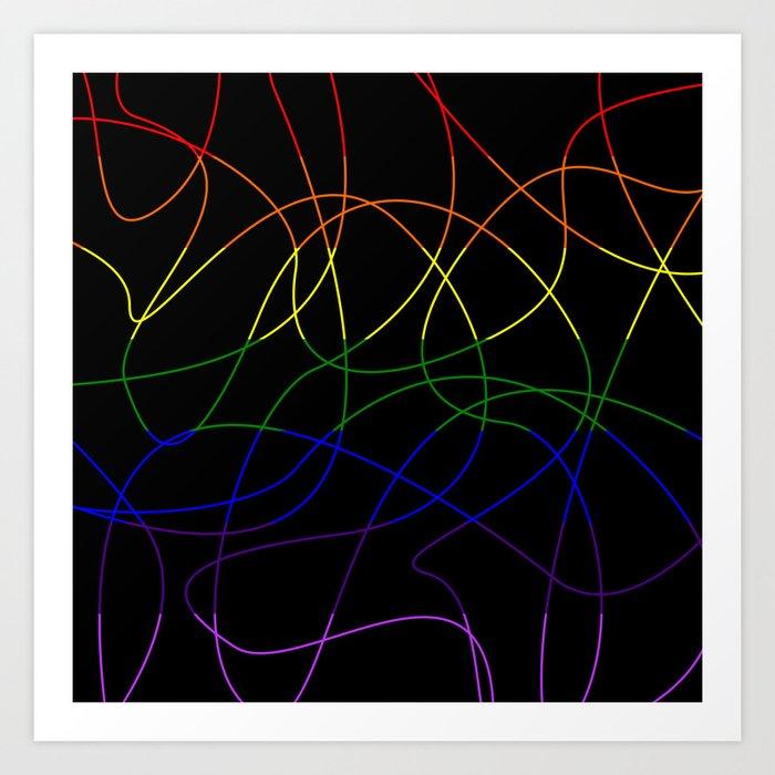 Abstract Threads – LGBTQ Pride Flag Art Print