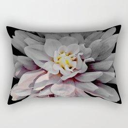 Grey Dahlia Bloom With Pink Rectangular Pillow