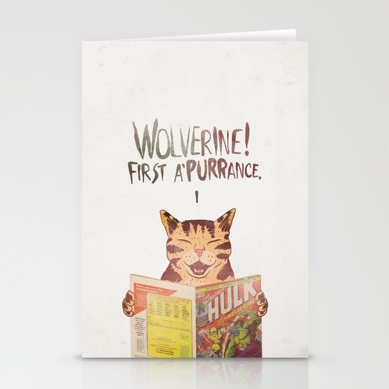 WOLVERINE! FISRT A'PURR'ANCE! Stationery Cards