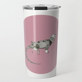 Black and White Lizard Travel Mug