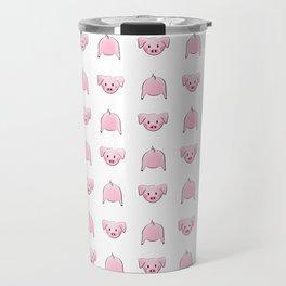 Fun Piggy Pig Butt Tail Animals Travel Mug