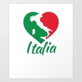 Italia Heart - I Love Italy Art Print