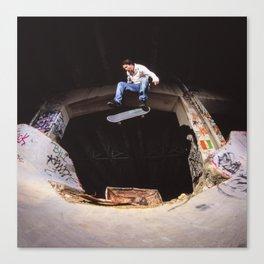 Bam Margra - kickflip at FDR Canvas Print