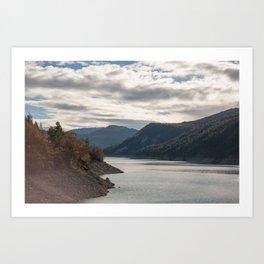 Autumn lake view Art Print
