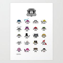 The Squares Family Art Print