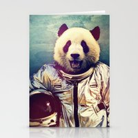 pandas Stationery Cards featuring The Greatest Adventure by rubbishmonkey
