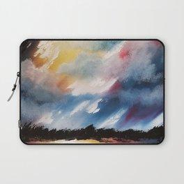 Moody Sunset, Dark Sunset, Abstract Sunset, Seascape, Sunscape, Skyscape Laptop Sleeve