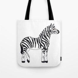 Zebra Stan Tote Bag