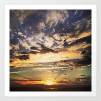 Seattle Storm Sunset Art Print