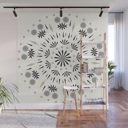 Snowflakes Scandic Nordic Wall Mural
