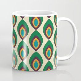 Peacock feather beige #homedecor #midcenturydecor Coffee Mug