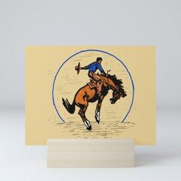 Full Moon Bronc & Cowboy Mini Art Print