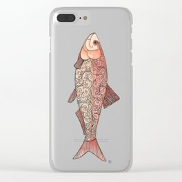 Swim to The Left Little Fish Clear iPhone Case