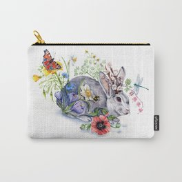 Spring Jackalope Carry-All Pouch
