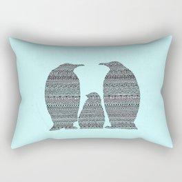 Penguin family aztec pattern Rectangular Pillow