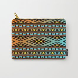 Orange and Turquoise Pendleton Carry-All Pouch