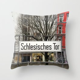 Berlin U-Bahn Memories - Schlesisches Tor Throw Pillow